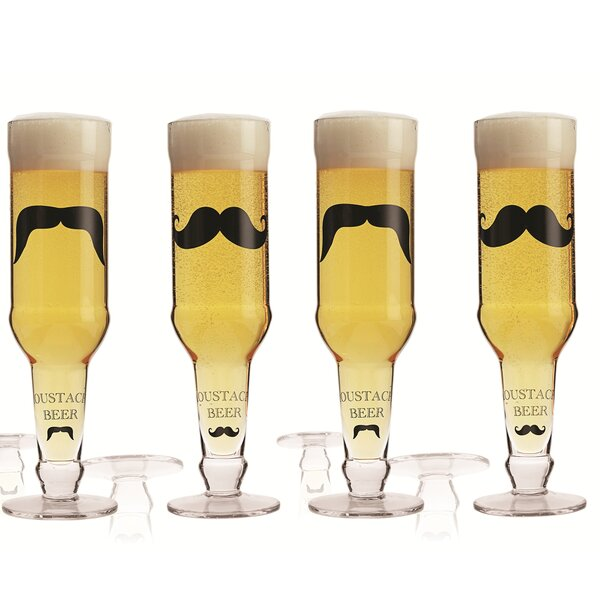 Moustache 12.85 oz. 4 Piece Beer Glass Set by Brilliant