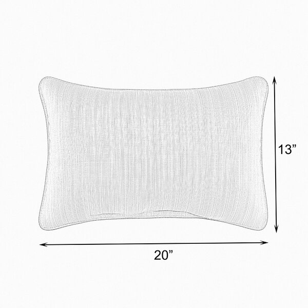 Fanette Polyester Lumbar Pillow (Set of 2) by Darby Home Co