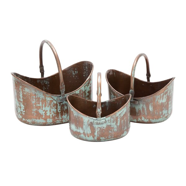 3-Piece Metal Pot Planter Set by Cole & Grey