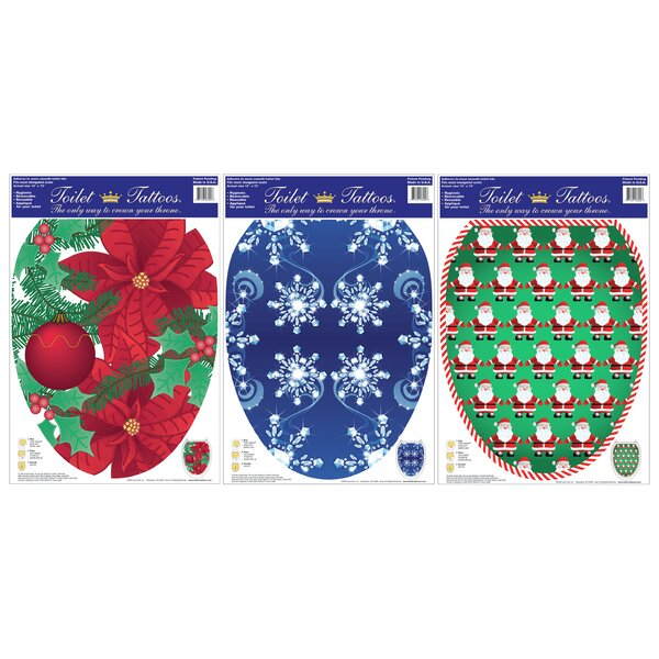 Holiday Toilet Tattoo (Pack of 3) by Toilet Tattoos