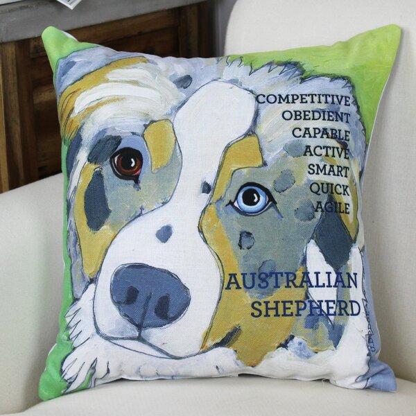 Doggy Décor Australian Sheep Dog Throw Pillow by One Bella Casa