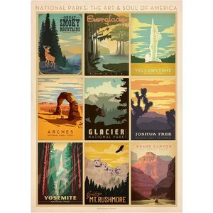 Vintage National Park Advertisements' Wall Art by East Urban Home