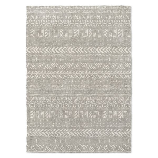 Geometric Gray Area Rug by Foundry Select