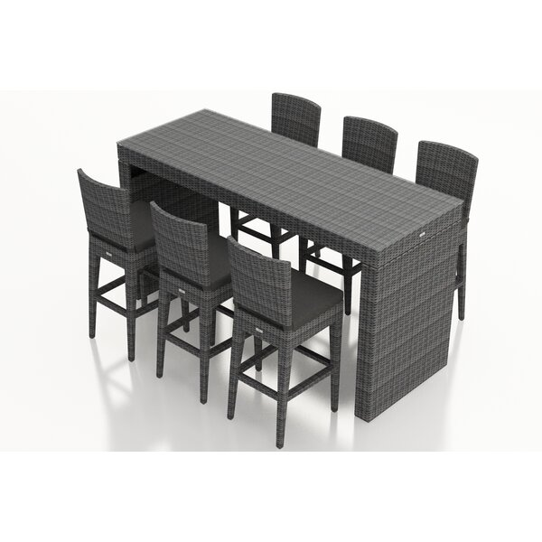 Hobbs 7 Piece Sunbrella Bar Height Dining Set With Cushion by Rosecliff Heights