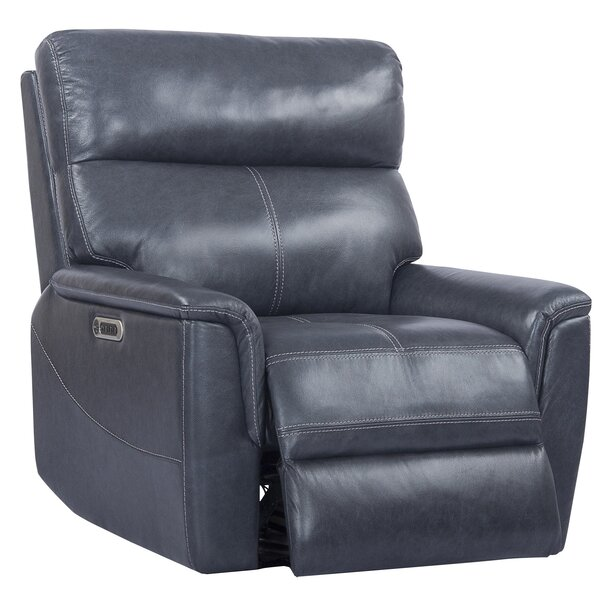 Hanish Leather Power Recliner by Winston Porter Winston Porter