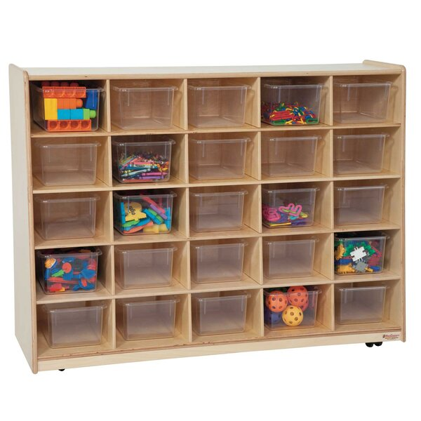 Tip-Me-Not 25 Compartment Cubby with Casters by Wood Designs