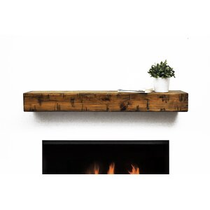 Rustic Fireplace Mantel Shelf by Dogberry Collecti