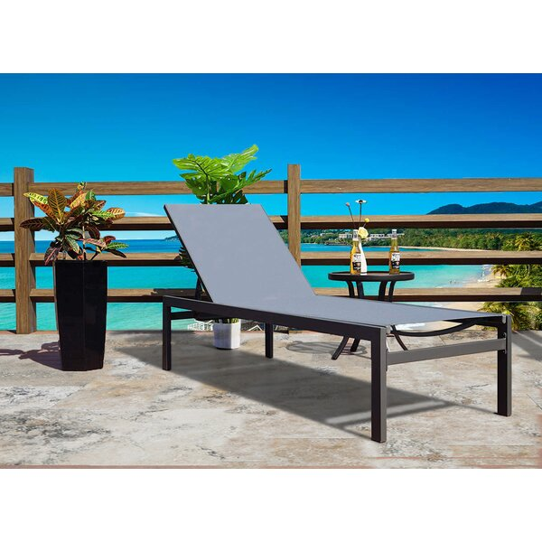 Morant Modern Flat Patio Reclining Chaise Lounge By Latitude Run