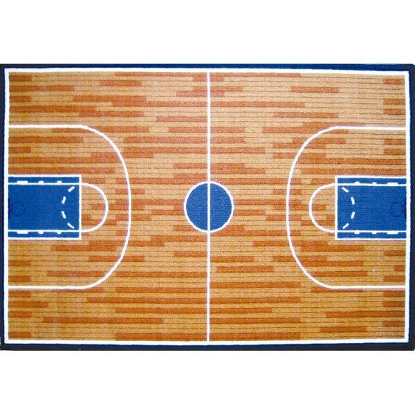 Fun Time Basketball Court Sports Area Rug by Fun Rugs