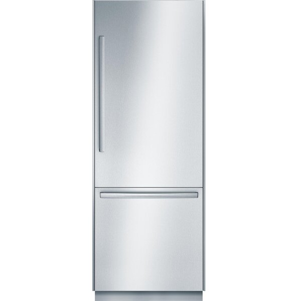 Benchmark 16.2 cu. ft. Smart Energy Star Counter Depth Bottom Freezer Refrigerator with Home Connect