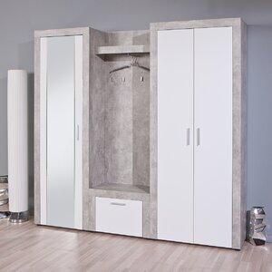 200 cm x 64 cm x 37 cm Wandmontierter Garderobenständer von Homestead Living