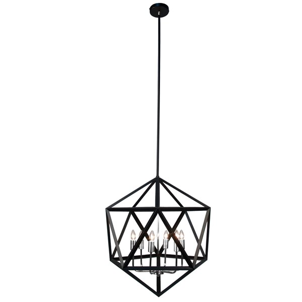 Manson 6-Light Candle Style Geometric Chandelier by Ivy Bronx Ivy Bronx