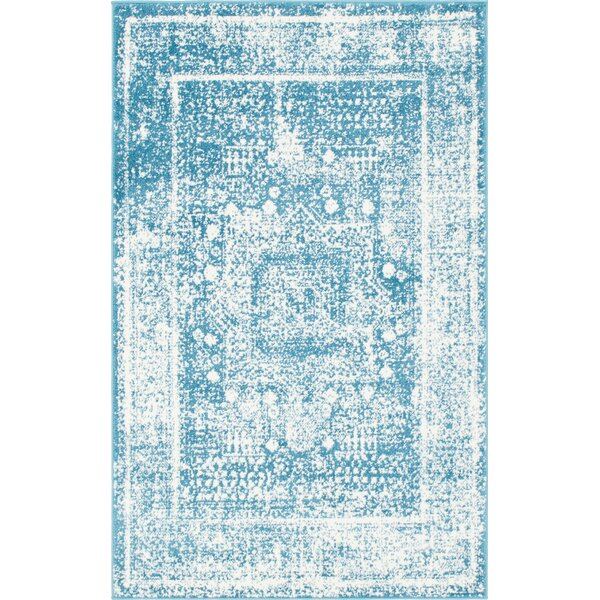Hartell Blue Area Rug by Bungalow Rose