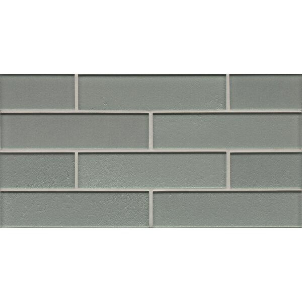 Remy Glass Mosaic Gloss Mesh Mount Tile in Blue by Grayson Martin