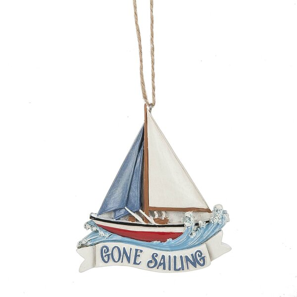 Gone Sailing Hanging Figurine by Breakwater Bay
