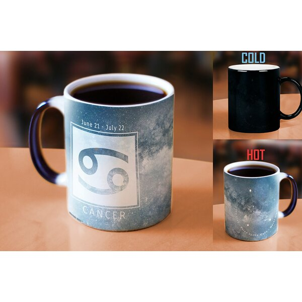 Ellsworth Birthday Zodiac Sign (Cancer) Heat Reveal Ceramic Coffee Mug by Latitude Run
