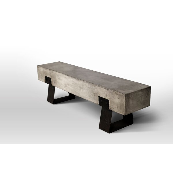 David Metal and Concrete Picnic Bench by Trent Austin Design