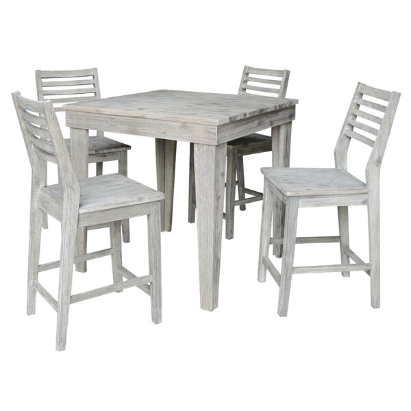 Gallimore 5 Piece Pub Table Set by Gracie Oaks