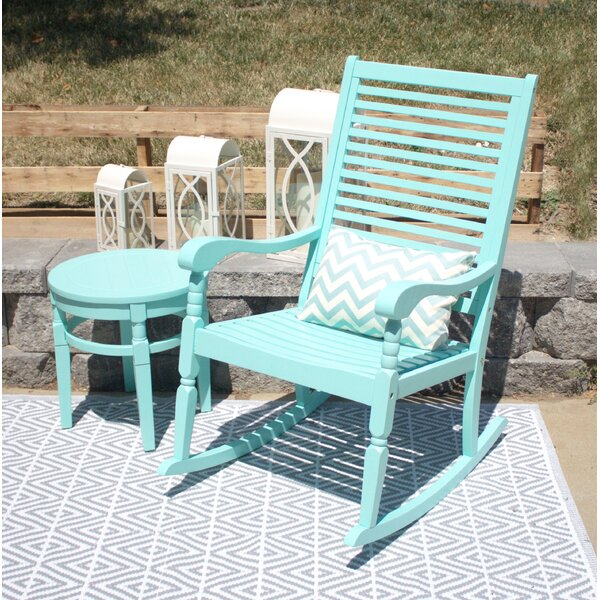 Jeffry Elegant Hardwood Porch Rocking Chair by August Grove