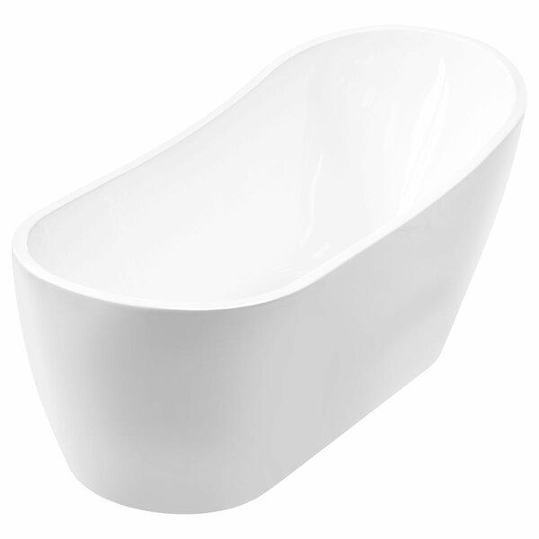 Acrylic 54 x 28 Freestanding Soaking Bathtub by LessCare