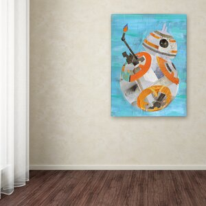 'Bb8' Graphic Art Print on Wrapped Canvas by Trademark Fine Art