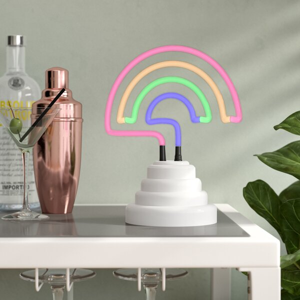 Rainbow Neon Table Lamp by Wrought Studio