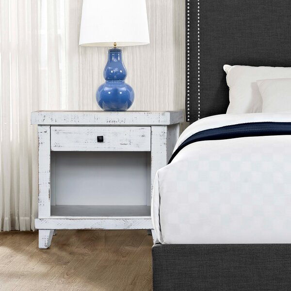 Farmersville 1 Drawer Nightstand by Gracie Oaks