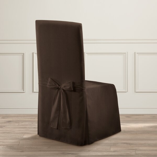Parson Box Cushion Dining Chair Slipcover By Charlton Home