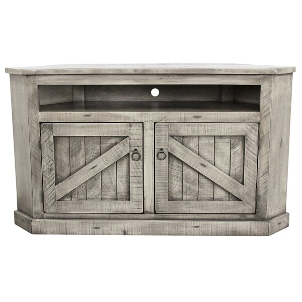 Benji Solid Wood Corner TV Stand For TVs Up To 65