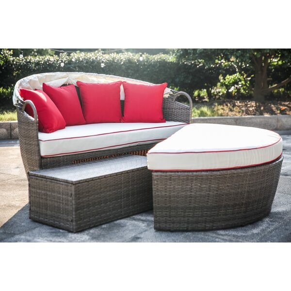 Fansler Patio Daybed with Cushions by Beachcrest Home
