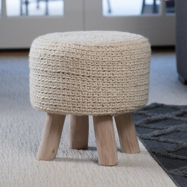 Clawson Fabric Accent Stool by Bungalow Rose