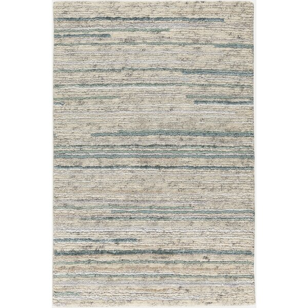 Bolger Hand-Knotted Cream/Sage Area Rug by Red Barrel Studio