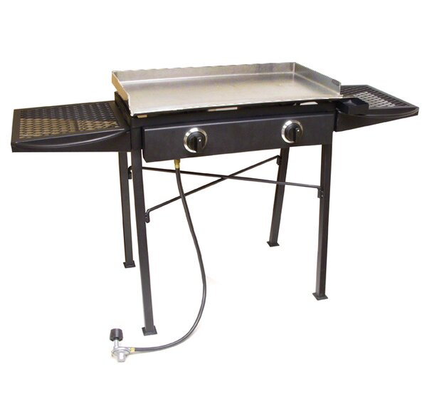 Portable Flat Top Propane Grill with Double Burner Stove by King Kooker