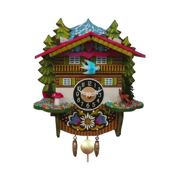 Battery Operated Forest And Bird Swing Cuckoo Wall Clock by Loon Peak