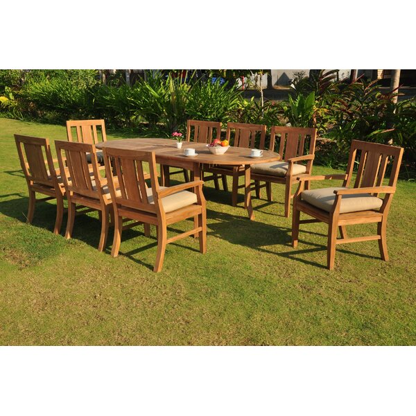 Kevon Luxurious 7 Piece Teak Dining Set by Rosecliff Heights