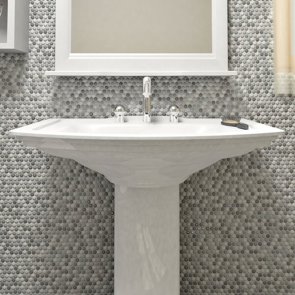 Astraea 0.62 x 0.62 Porcelain Mosaic Tile in Gray/White by EliteTile