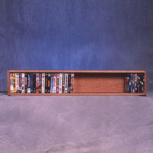 100 Series 50 VHS Wall Mounted Multimedia Storage Rack by Wood Shed