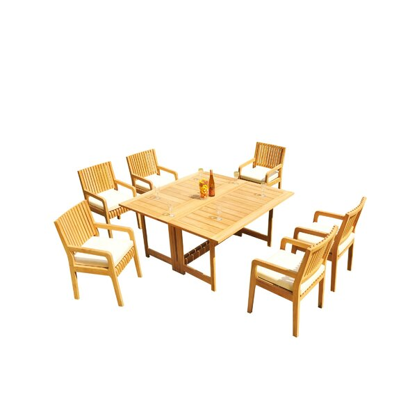 Mastin 7 Piece Teak Dining Set by Rosecliff Heights