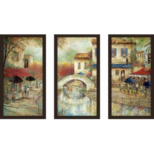 'Arthur's by the Canal' Framed Painting Print Multi-Piece Image on Glass by Fleur De Lis Living