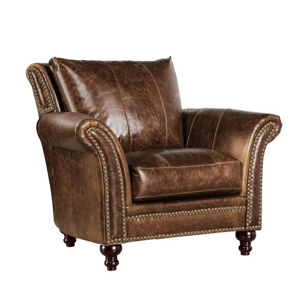 De Foix Top Grain Italian Leather Club Chair by Canora Grey