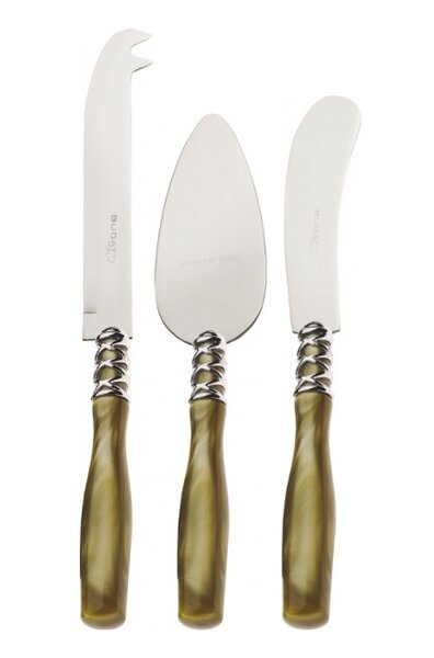 Arianna 3 Piece Cheese Knife Set by Bugatti Italy