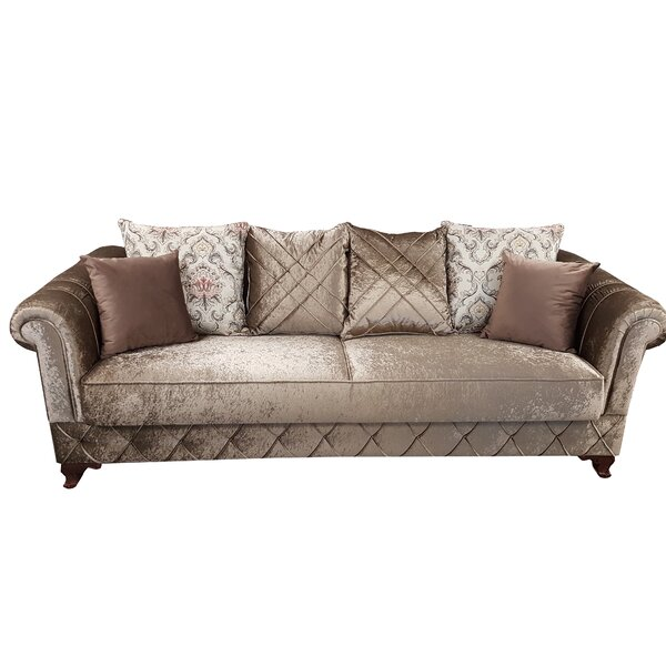 Kosem Convertible Sleeper Sofa, Dropp Brown by Rosdorf Park Rosdorf Park