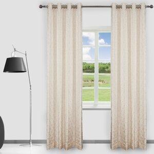 Clarabelle Geometric Room Darkening Curtain Panels (Set of 2)
