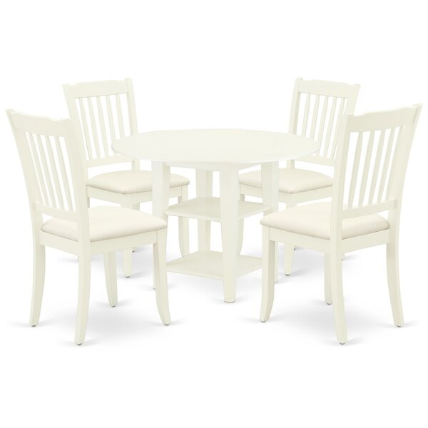 Bladric 5 Piece Drop Leaf Solid Wood Dining Set By Winston Porter