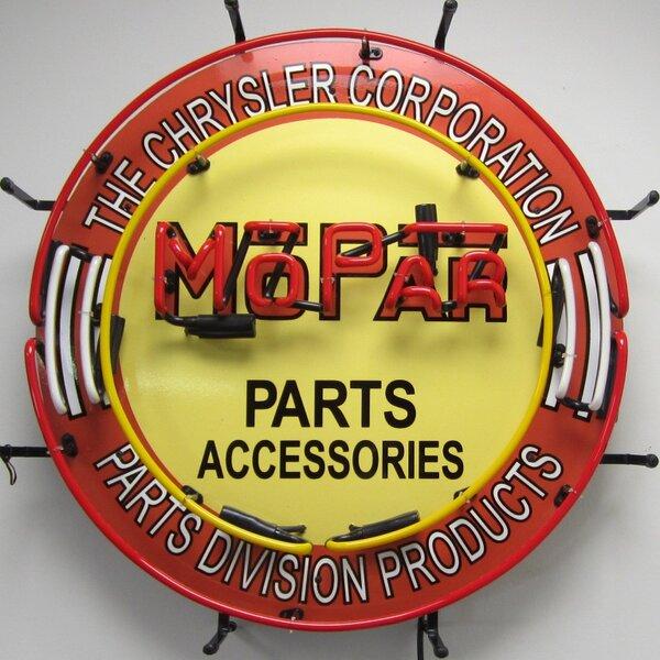 Mopar Circle Neon Sign by Neonetics