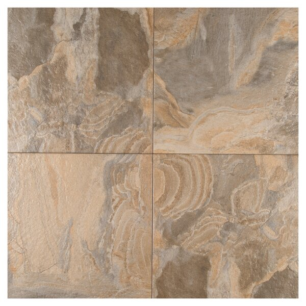 Platino 18 x 18 Porcelain Field Tile in Saphia by MSI