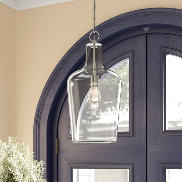 Carey 1-Light Cylinder Pendant by Laurel Foundry M