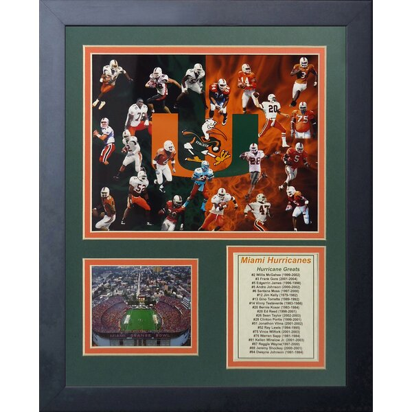 Miami Hurricanes Greats Framed Memorabilia by Legends Never Die