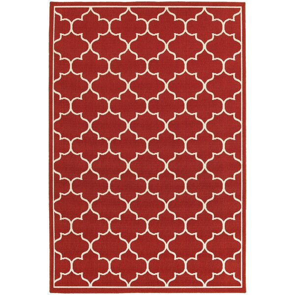 Duncan Red Indoor/Outdoor Area Rug by Charlton Home