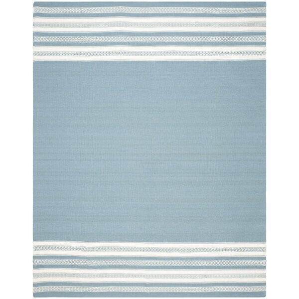 Dhurries Cotton Turquoise Area Rug by Safavieh